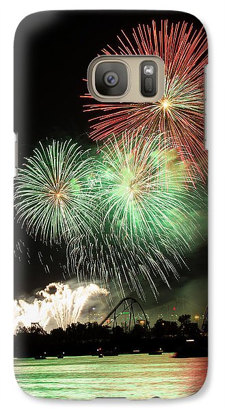 Montreal-fireworks Galaxy Case by Mircea Costina Photography
