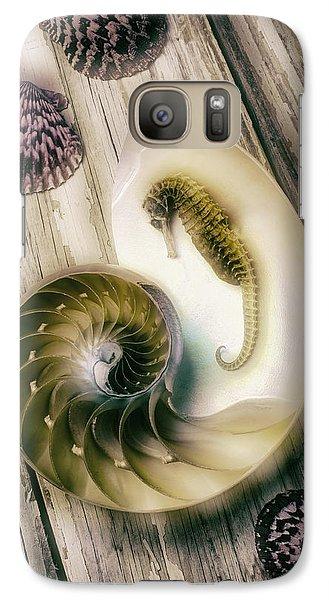 Moody Seahorse Galaxy Case by Garry Gay