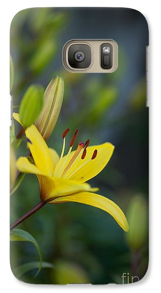 Morning Lily Galaxy Case by Mike Reid
