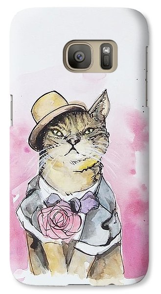 Mr Cat In Costume Galaxy S7 Case by Venie Tee