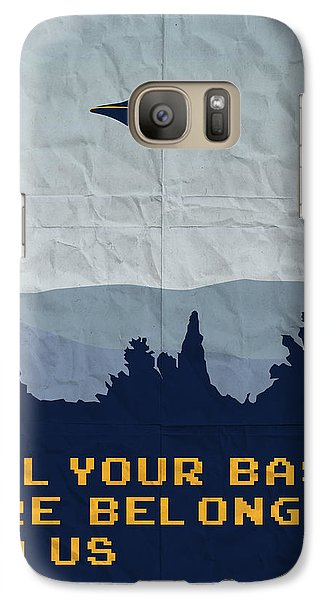 My All Your Base Are Belong To Us Meets X-files I Want To Believe Poster  Galaxy Case by Chungkong Art