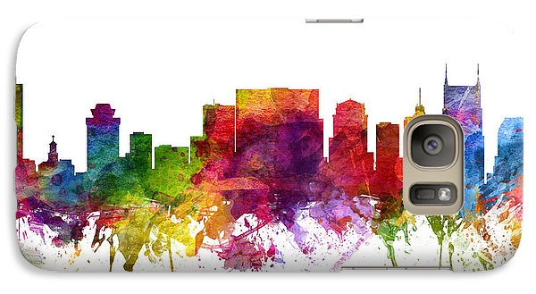 Nashville Cityscape 06 Galaxy Case by Aged Pixel