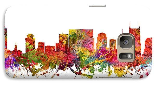 Nashville Cityscape 08 Galaxy Case by Aged Pixel