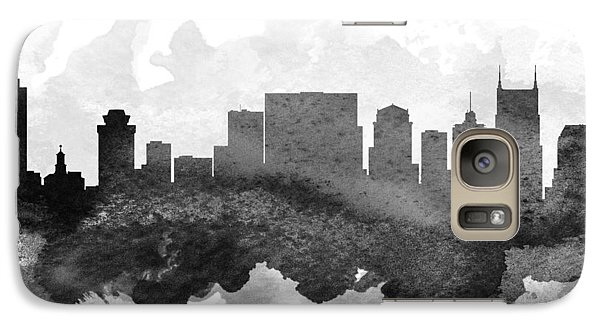 Nashville Cityscape 11 Galaxy Case by Aged Pixel