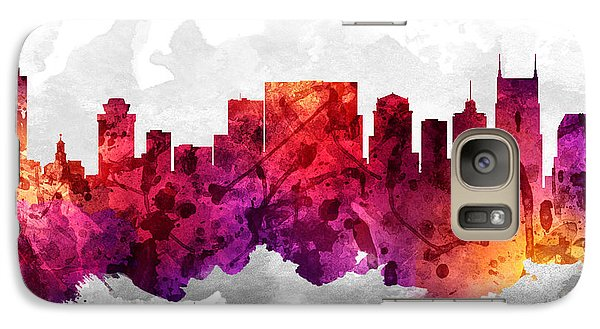 Nashville Tennessee Cityscape 14 Galaxy Case by Aged Pixel