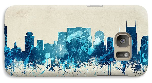 Nashville Tennessee Skyline 20 Galaxy Case by Aged Pixel