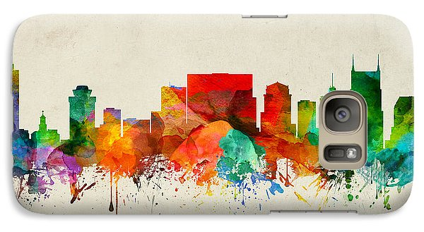 Nashville Tennessee Skyline 22 Galaxy Case by Aged Pixel