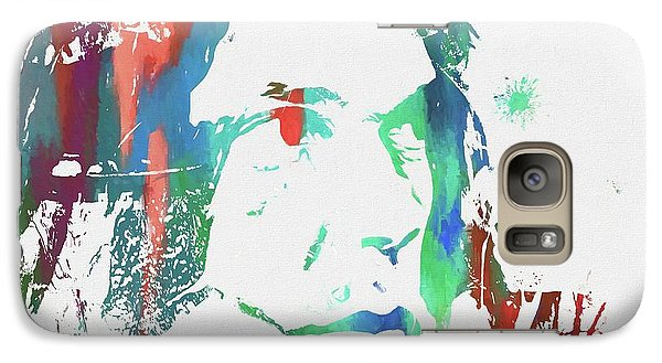 Neil Young Paint Splatter Galaxy Case by Dan Sproul