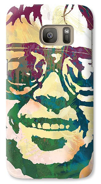 Neil Young Pop Stylised Art Poster Galaxy Case by Kim Wang