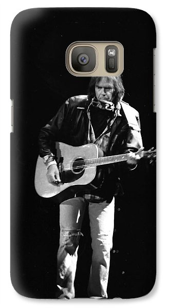 Neil Young Galaxy S7 Case by Wayne Doyle