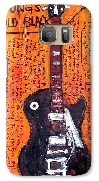 Neil Young's Old Black Galaxy S7 Case by Karl Haglund