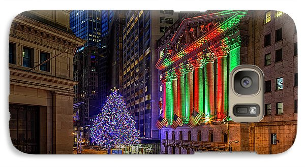 New York City Stock Exchange Wall Street Nyse Galaxy Case by Susan Candelario