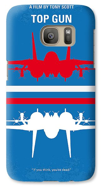 No128 My Top Gun Minimal Movie Poster Galaxy S7 Case by Chungkong Art