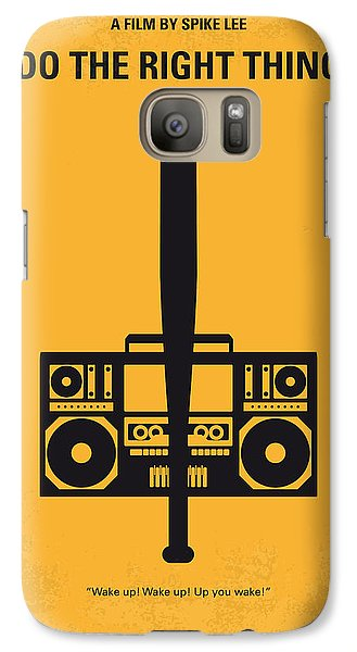 No179 My Do The Right Thing Minimal Movie Poster Galaxy S7 Case by Chungkong Art