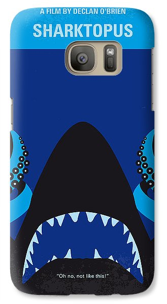 No485 My Sharktopus Minimal Movie Poster Galaxy Case by Chungkong Art