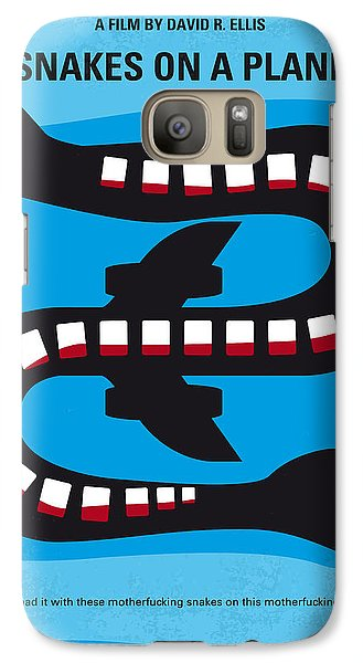 No501 My Snakes On A Plane Minimal Movie Poster Galaxy Case by Chungkong Art