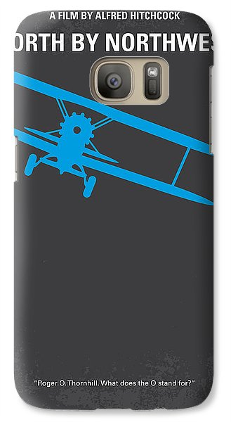 No535 My North By Northwest Minimal Movie Poster Galaxy S7 Case by Chungkong Art
