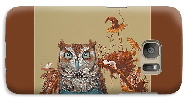 Northern Screech Owl Galaxy Case by Jasper Oostland