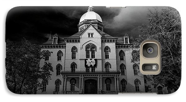 Notre Dame University Black White 3a Galaxy S7 Case by David Haskett