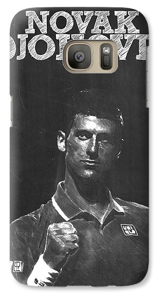 Novak Djokovic Galaxy S7 Case by Semih Yurdabak