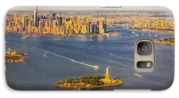Nyc Iconic Landmarks Aerial View Galaxy Case by Susan Candelario