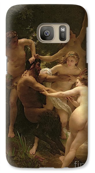 Nymphs And Satyr Galaxy Case by William Adolphe Bouguereau