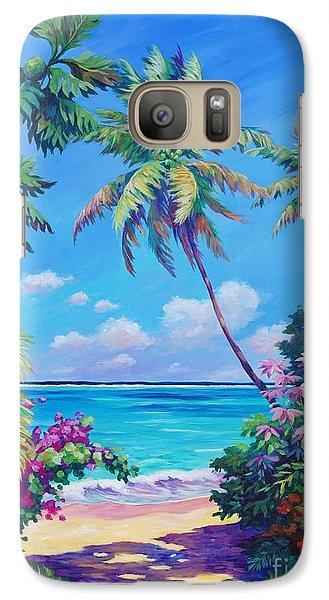 Ocean View With Breadfruit Tree Galaxy S7 Case by John Clark