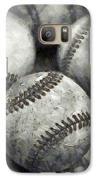 Old Baseballs Pencil Galaxy Case by Edward Fielding