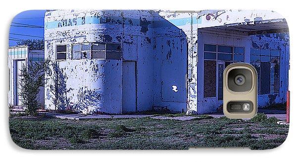 Old Run Down Gas Station Galaxy Case by Garry Gay