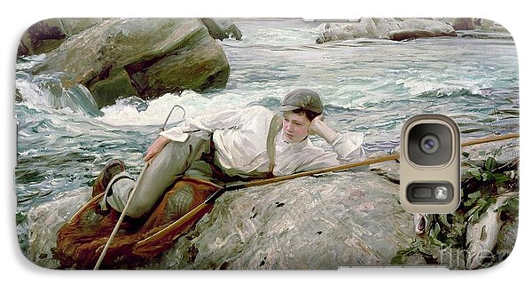 On His Holidays Galaxy Case by John Singer Sargent