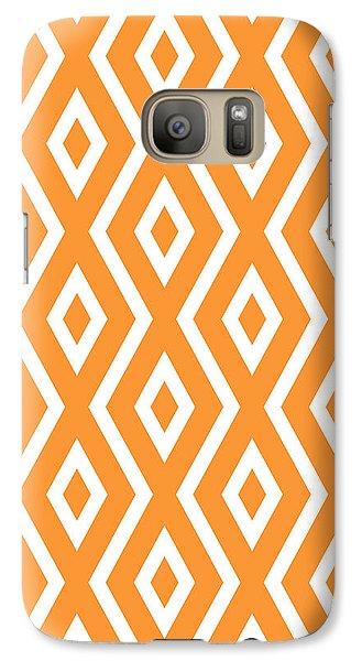 Orange Pattern Galaxy S7 Case by Christina Rollo