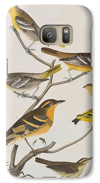 Orioles Thrushes And Goldfinches Galaxy Case by John James Audubon