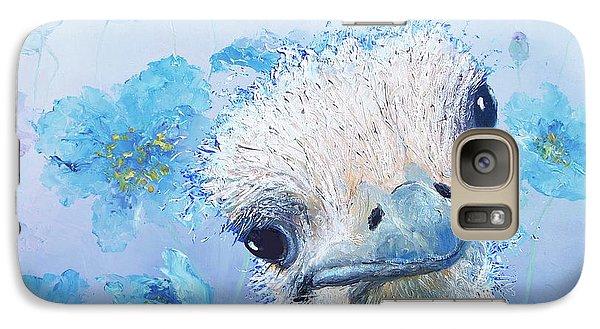 Ostrich In A Field Of Poppies Galaxy Case by Jan Matson