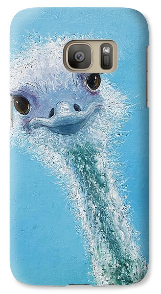 Ostrich Painting Galaxy Case by Jan Matson
