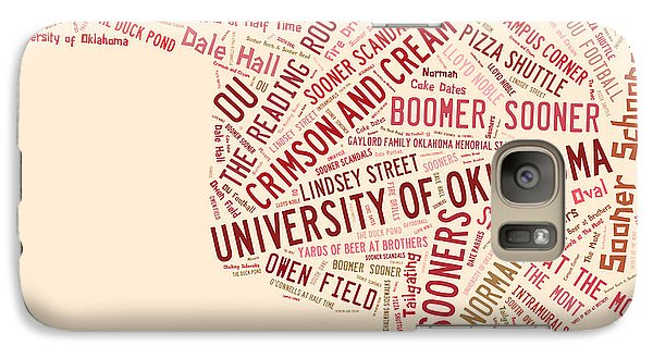 Ou Word Art University Of Oklahoma Galaxy Case by Roberta Peake