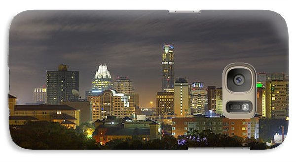 Panorama Of The Austin Skyline On A September Morning Galaxy Case by Rob Greebon