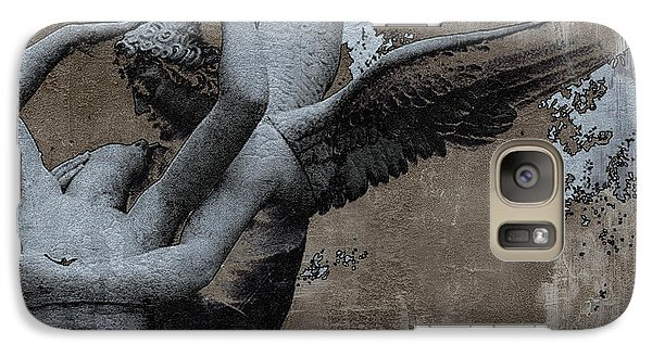 Paris Eros And Psyche - Surreal Romantic Angel Louvre   - Eros And Psyche - Cupid And Psyche Galaxy Case by Kathy Fornal