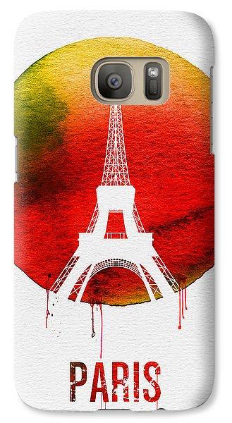 Paris Landmark Red Galaxy S7 Case by Naxart Studio
