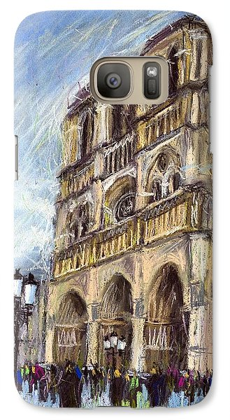 Paris Notre-dame De Paris Galaxy S7 Case by Yuriy  Shevchuk