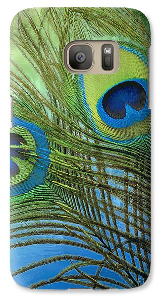 Peacock Candy Blue And Green Galaxy Case by Mindy Sommers