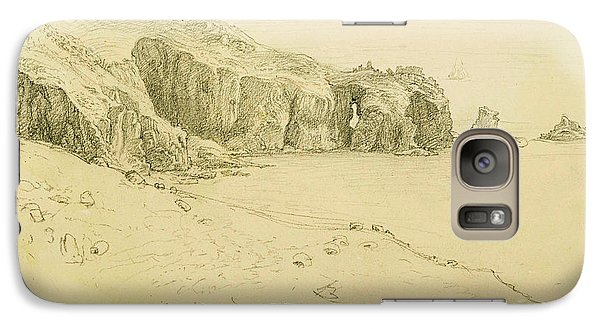 Pele Point, Land's End Galaxy Case by Samuel Palmer