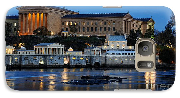 Philadelphia Art Museum And Fairmount Water Works Galaxy Case by Gary Whitton