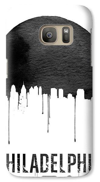 Philadelphia Skyline White Galaxy S7 Case by Naxart Studio
