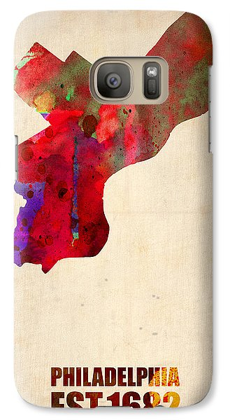 Philadelphia Watercolor Map Galaxy Case by Naxart Studio