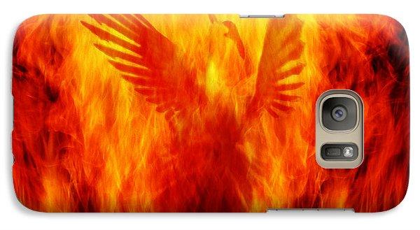 Phoenix Rising Galaxy Case by Andrew Paranavitana