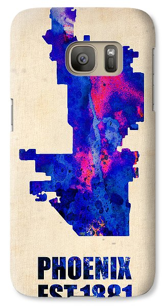 Phoenix Watercolor Map Galaxy Case by Naxart Studio