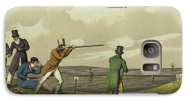 Pigeon Shooting Galaxy Case by Henry Thomas Alken
