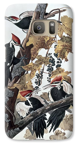 Pileated Woodpeckers Galaxy S7 Case by John James Audubon