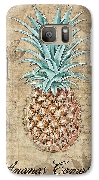 Pineapple, Ananas Comosus Vintage Botanicals Collection Galaxy S7 Case by Tina Lavoie