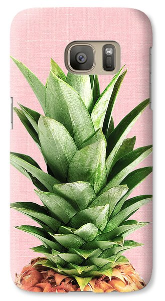 Pineapple And Pink Galaxy S7 Case by Vitor Costa